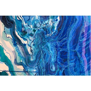 """""""Only With Mother's Water"""" Abstract Painting"""
