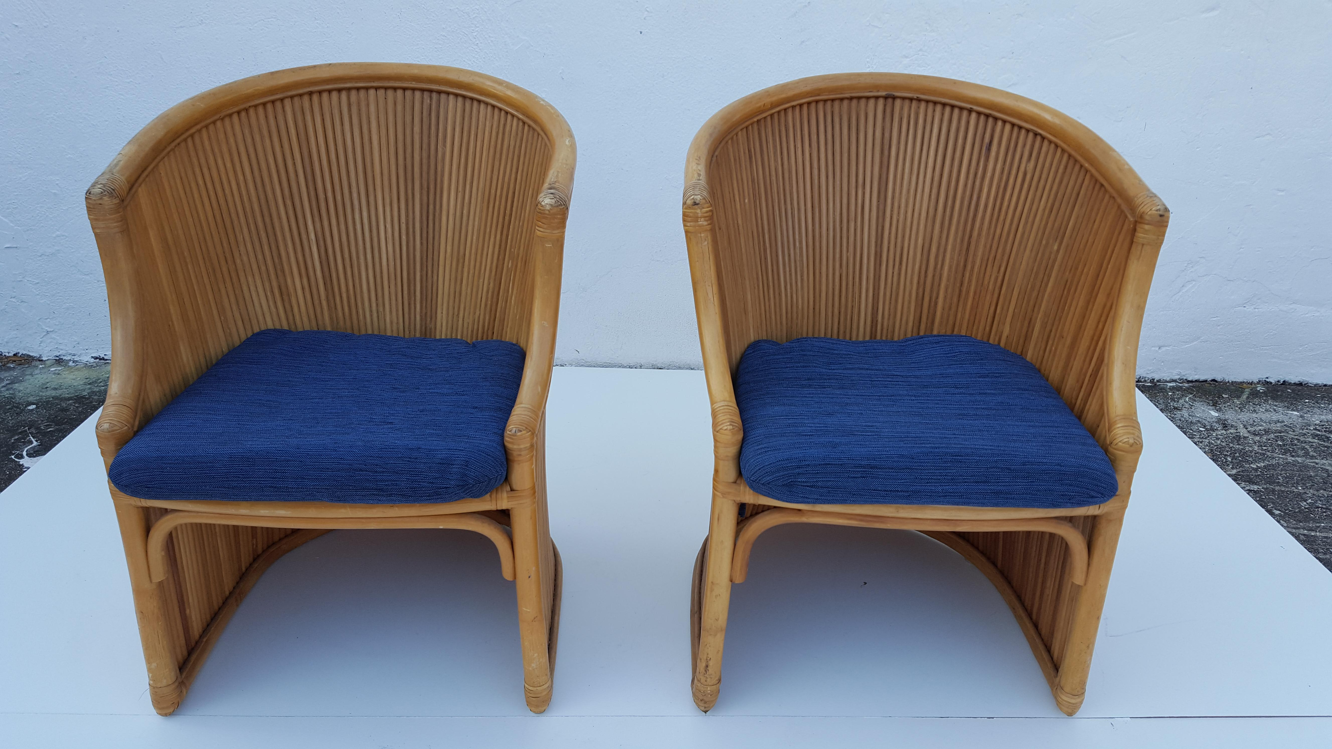 gabriella crespi attributed rattan dining chairs set of 4 image 4 of 11