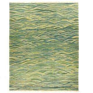 Rug & Relic Green Yeni Kilim - 5'1'' x 6'5''