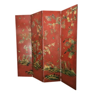 Asian Style Red Room Divider