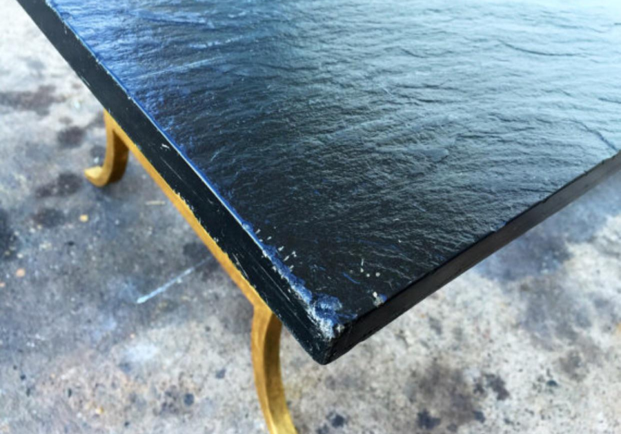 Slate Top Gold Gilded Coffee Table   Image 6 Of 6