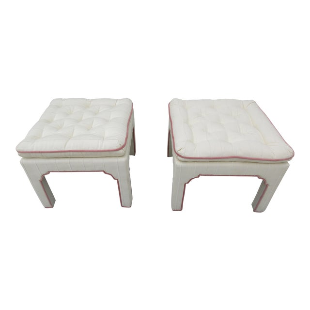 Parsons Style Stools or Footstools -A Pair - Image 1 of 10