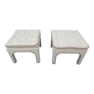 Parsons Style Stools or Footstools -A Pair