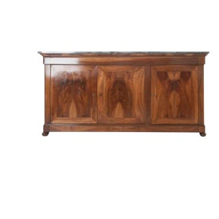 French 19th Century Louis Philippe Enfilade with Marble Top