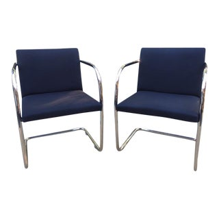 Vintage Ludwig Mies Van Der Rohe Cantilever Chairs - A Pair