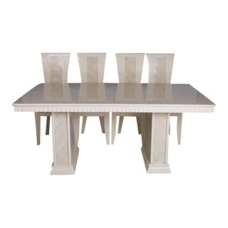 John Turano Italian Dining Table & Chairs - Set of 5