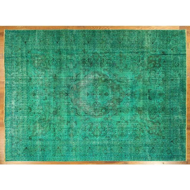 Image of Tebriz Irani Persian Overdyed Rug 10' X 13'