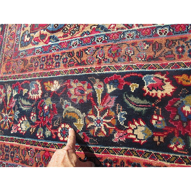 Antique Weaver Signed Handwoven Persian Oriental Rug