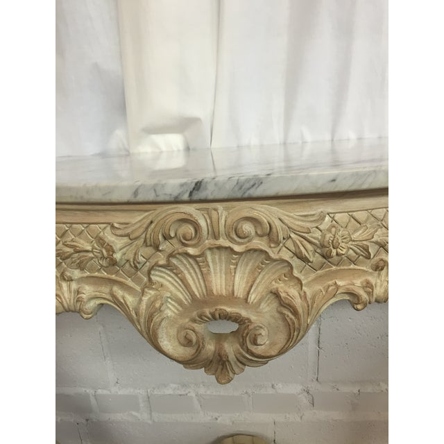Image of Vintage Italian Marble Top Consoles - A Pair