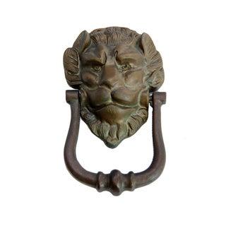 Vintage English Brass Lion Door Knocker
