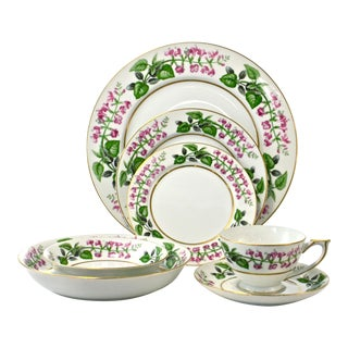 1940s Japanese Floral Porcelain Dinnerware - 71 Pieces