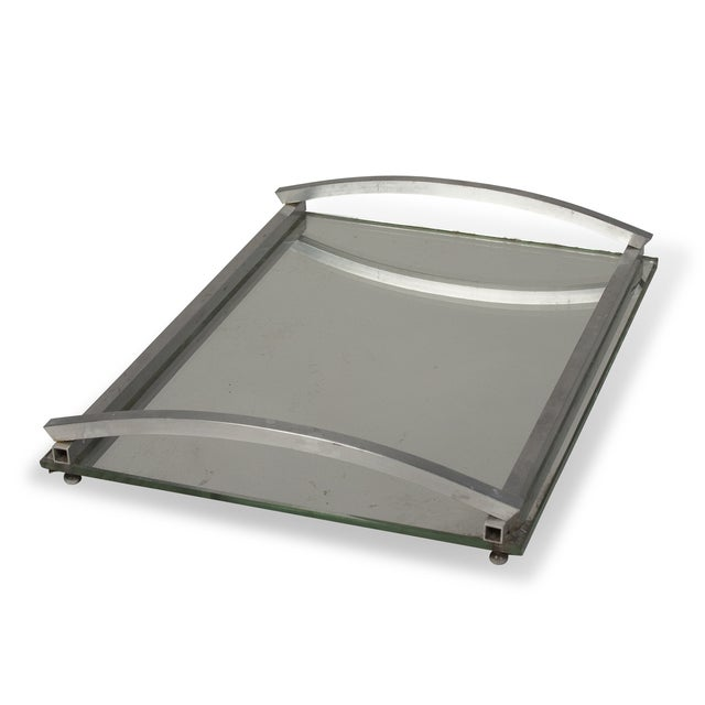 1930s Matte Nickel Frame Serving Tray - Image 5 of 9