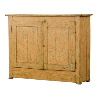 Antique French Tall Buffet Bas d'Armoire, Original Painted Finish circa 1830