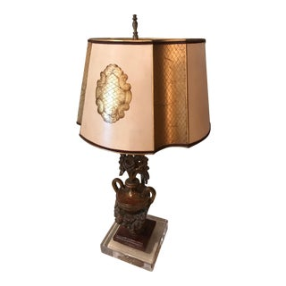 Italian Carving on Acrylic Table Lamp