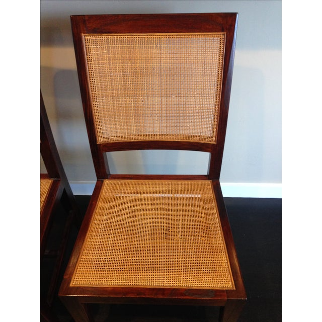Crate & Barrel Cane Dining Chairs - Set of 4 - Image 7 of 9