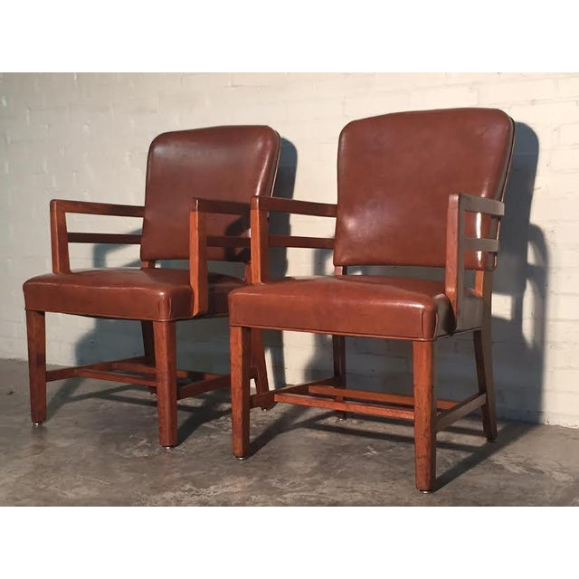 Mid-Century Office Chairs W/Nailhead Back - A Pair - Image 2 of 10