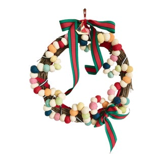 Felt Ball Belles Of Venice Atelier Wreath