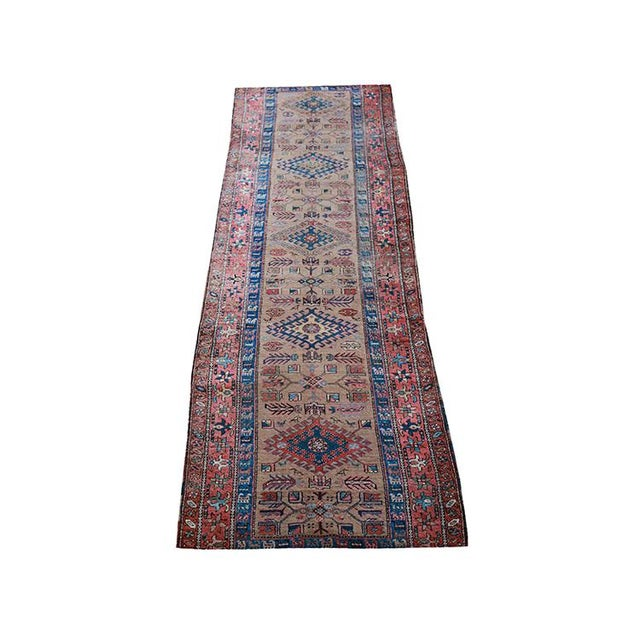 """Antique Persian Sarab Runner Early 1900's - Size 3'4"""" X 11'3"""" - Image 1 of 4"""