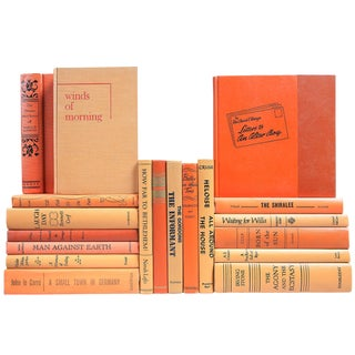 Mid-Century Pumpkin Spice Books - Set of 20