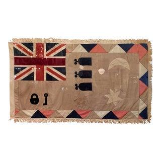 Antique British Colony Flag in Lucite Frame