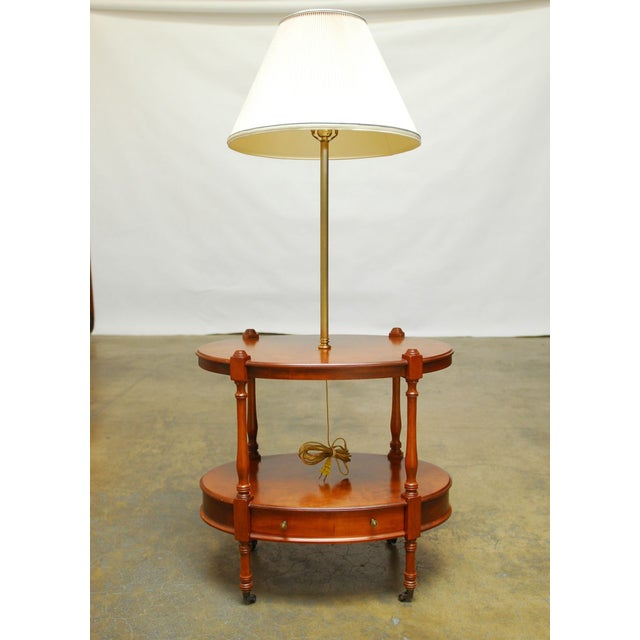 Frederick Cooper Two-Tier Side Table with Lamp - Image 2 of 7