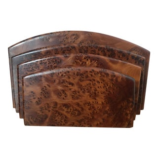 Burl Wood Letter Holder