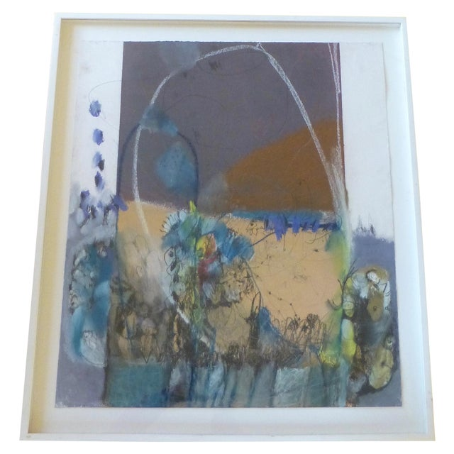 Large Abstract Mid-Century Painting - Image 1 of 11