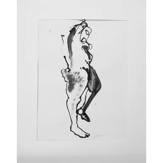 Nude Ink Drawing by Martha Holden