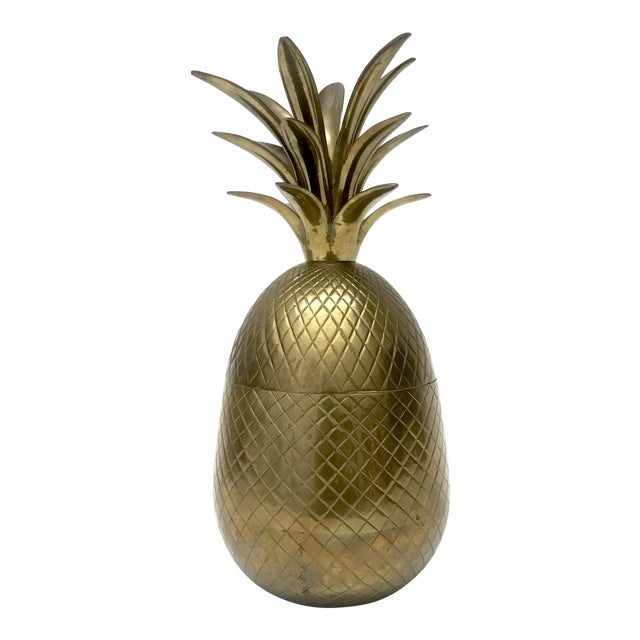 Vintage Brass Pineapple Container - Image 1 of 4