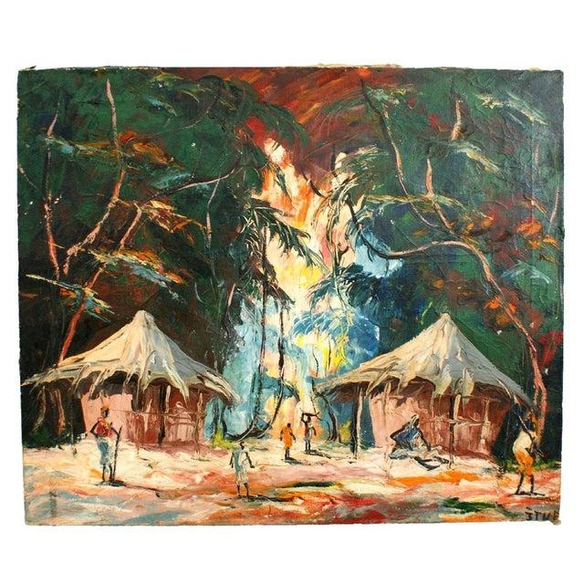Original Tropical Landscape Painting - Image 1 of 3