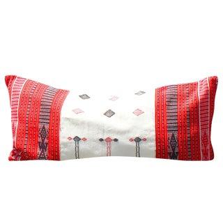 """""""Timor Tribe"""" Handwoven Ikat Pillow"""