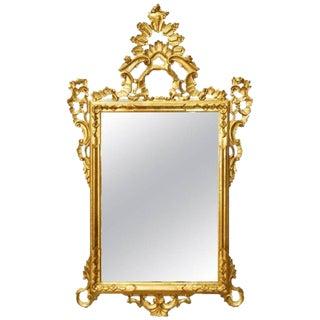 19th Century Italian Rococo Style Giltwood Mirror
