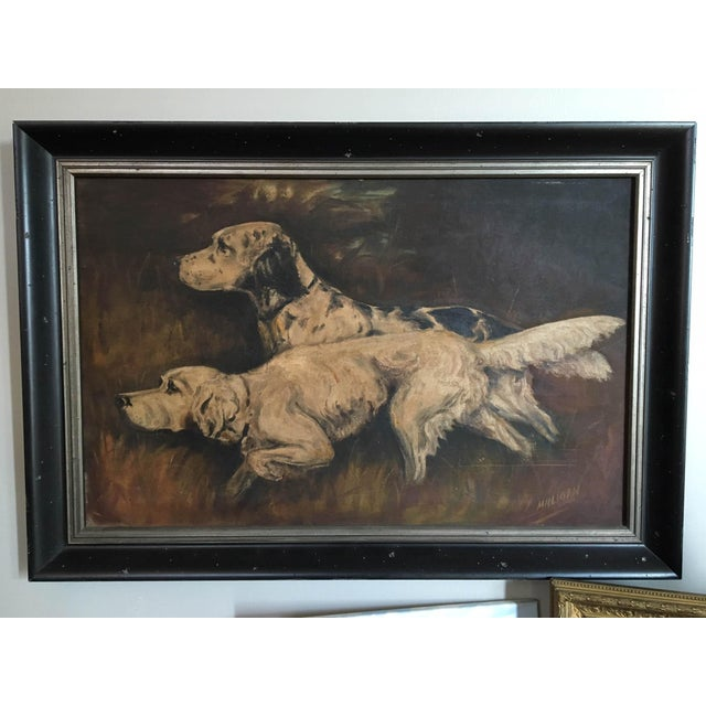 Mid-Century Hunting Dog Painting - Image 2 of 6