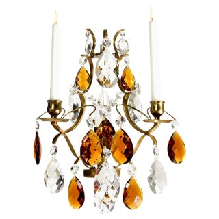 Sconce Chandelier, Crystal Chandelier Pompe