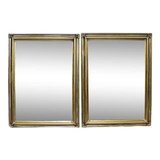Silver & Gilt Wall Mirrors - a Pair