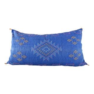 Indigo Moroccan Sabra Cactus Lumbar Cushion