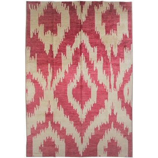 """Hand Knotted Ikat Rug - 13'4"""" X 10'6"""""""