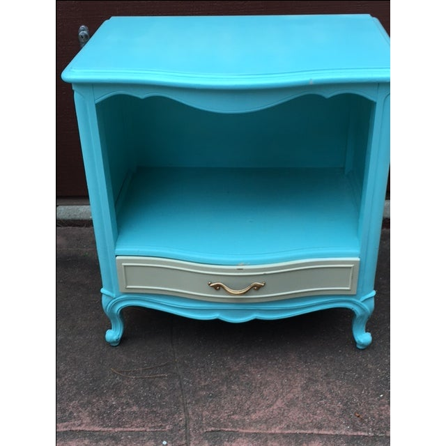 Shabby Chic Drexel Touraine Bedside Table - Image 3 of 4