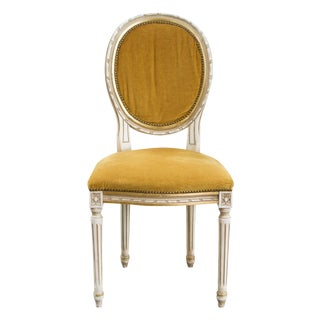 Vintage Yellow Louis XVI Side Chair