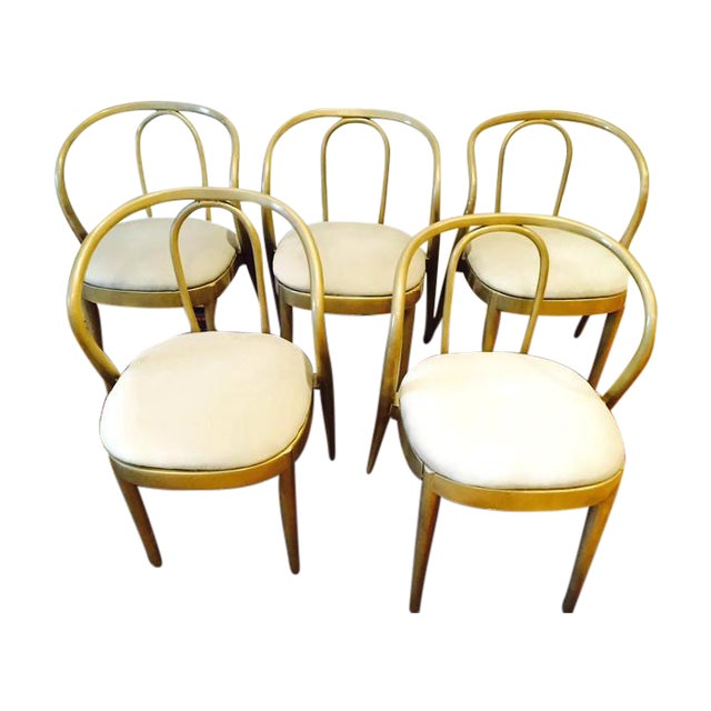 Vintage Modern Bentwood Dining Chairs - Set of 5 - Image 1 of 11