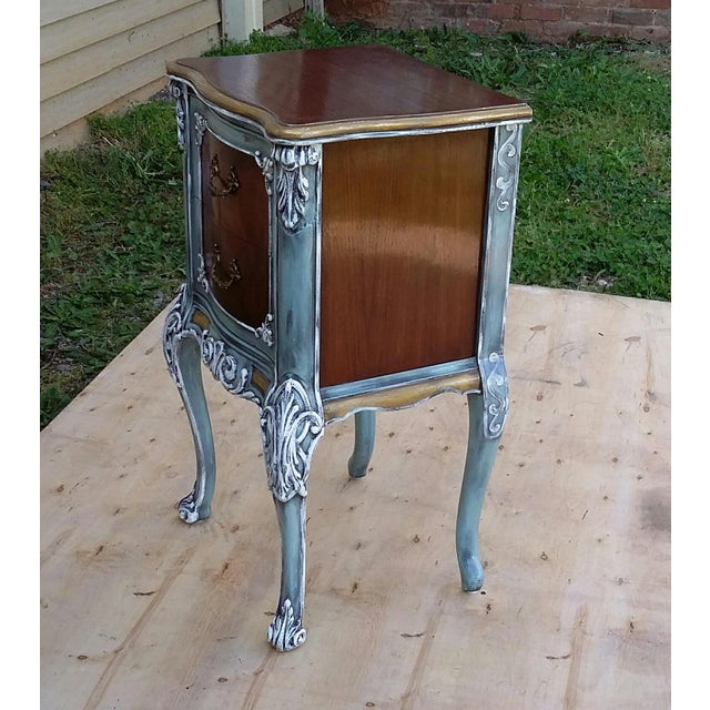 Hand-Painted French Nightstand - Image 9 of 9