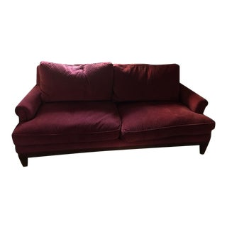 Baker Velvet Down Loveseat