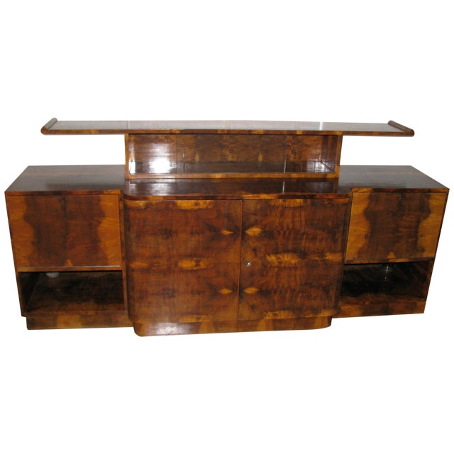 French Art Deco 2-Tiered Paldao Burlwood Sideboard - Image 1 of 11