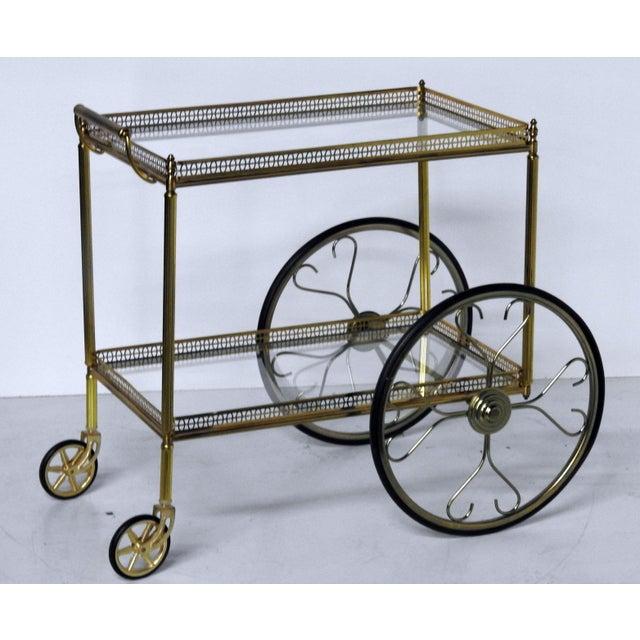 French Modern Rolling Bar Cart Chairish