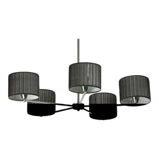 Black Organza Shade Chandelier