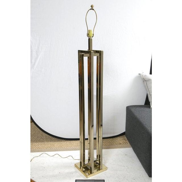 Milo Baughman Brass Deco Floor Lamp - Image 5 of 10