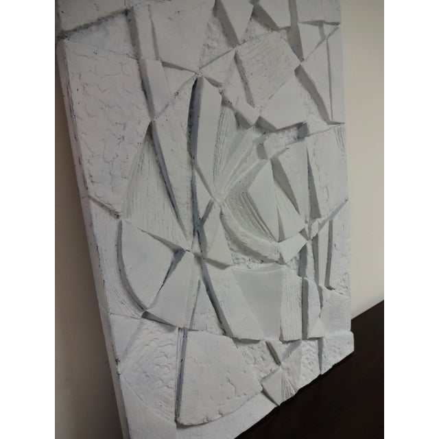 Mid-Century 3D Geometric Wall Hanging Sculpture - Image 7 of 10