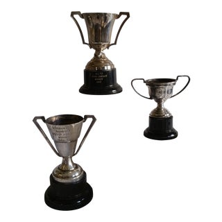 Silver Plated Sport Trophies - Set of 3