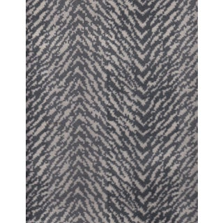 Thibaut Gray Tigris Velvet Fabric - 1 Yard