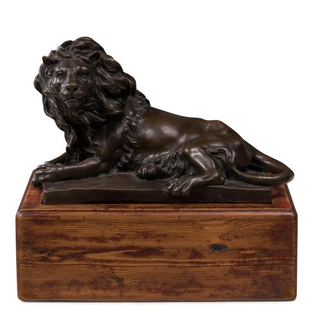 Sarreid LTD Reclining Bronze Lion - Image 1 of 2